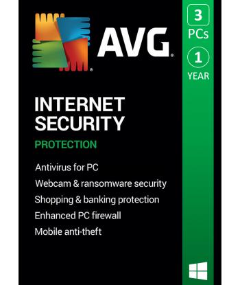 AVG Internet Security 2021 - 3PC | 1 Year
