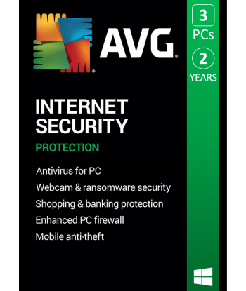 AVG Internet Security 2021 - 3PC | 2 Years