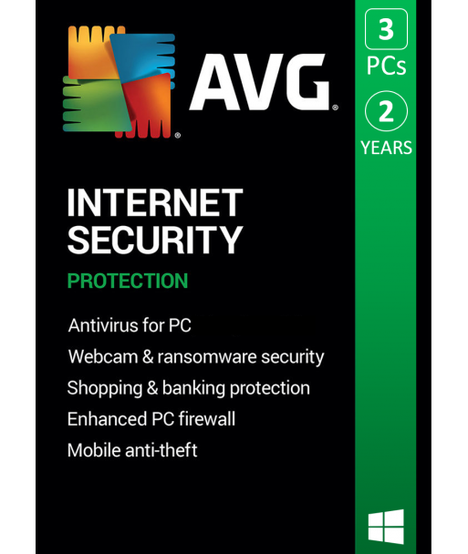 AVG Internet Security 2021 - 3PC   2 Years