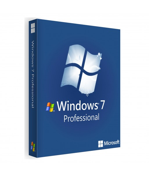 Windows 7 Pro 1PC License (32 / 64 bit) For 1 User on 1 PC