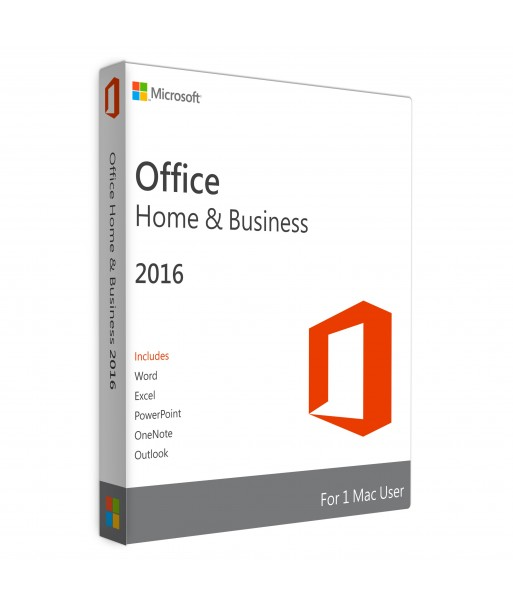 Office 2016 Home & Business Retail For 1 User on 1 MAC Device