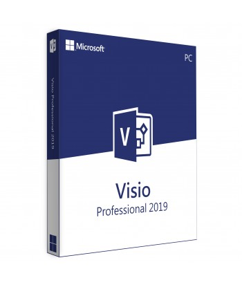 Visio Professional 2019 Retail License For 1 User on 1 Windows Device