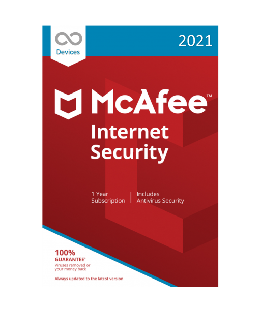 McAfee Internet Security 2021 - Unlimited Devices | 1 Year