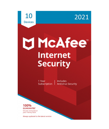 McAfee Internet Security 2021 - 10 Devices | 1 Year
