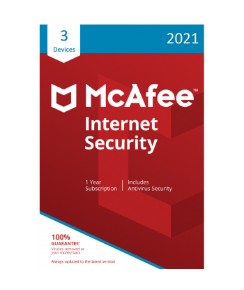 McAfee Internet Security 2021 - 3 Devices | 1 Year