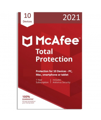 McAfee Total Protection 2021 - 10 Devices | 1 Year