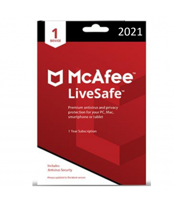 McAfee LiveSafe 2021 - 1 Device | 1 Year