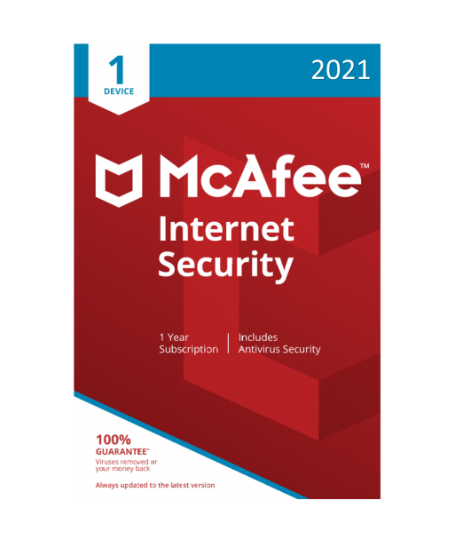 McAfee Internet Security 2021 - 1 Device | 1 Year