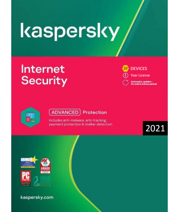 Kaspersky Internet Security 2021 - 10 Devices | 1 Year license