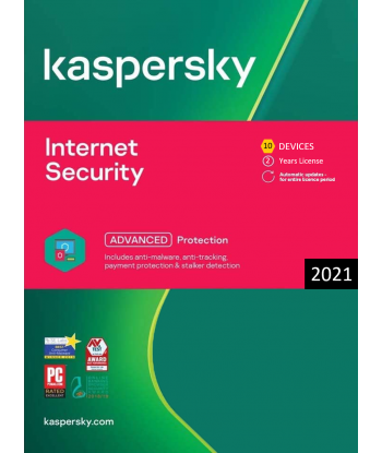 Kaspersky Internet Security 2021 - 10 Devices | 2 Years license