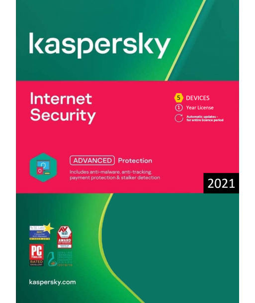Kaspersky Internet Security 2021 - 5 Devices | 1 Year license