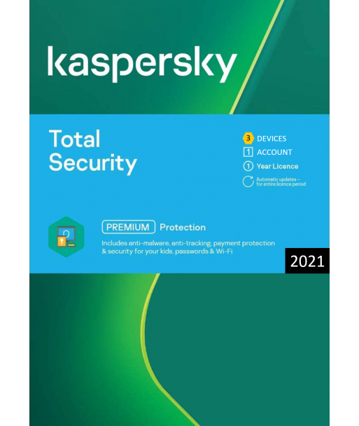 Kaspersky Total Security 2021 - 3 Devices | 1 Year license