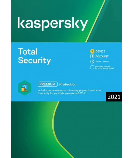 Kaspersky Total Security 2021 - 1 Device | 2 Years license