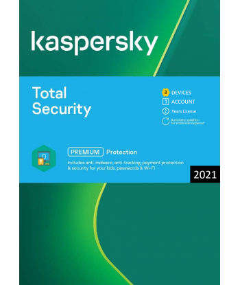 Kaspersky Total Security 2021 - 3 Devices | 2 Years license