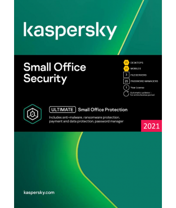 Kaspersky Small Office Security 2021 - 25 Devices | 1 Year license