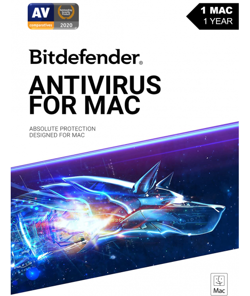Bitdefender Antivirus for MAC - 2021 - 1MAC  1 Year