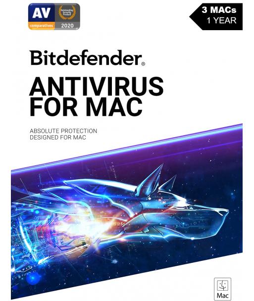Bitdefender Antivirus for MAC - 2021 - 3MACs | 1 Year