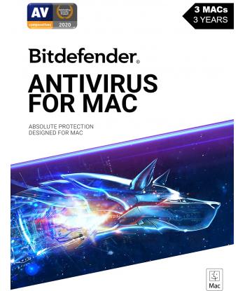 Bitdefender Antivirus for MAC - 2021 - 3MACs | 3 Years