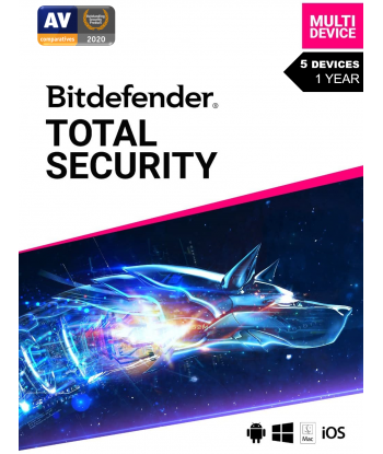 Bitdefender Total Security 2021 - 5 Devices | 1 Year