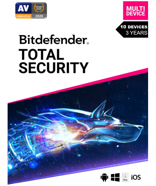 Bitdefender Total Security 2021 - 10 Devices   3 Years