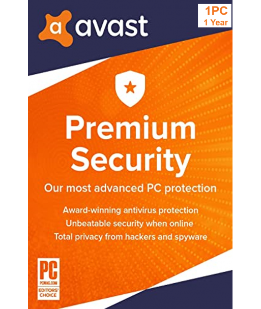 Avast Premium Security 2021 - 1PC  1 Year