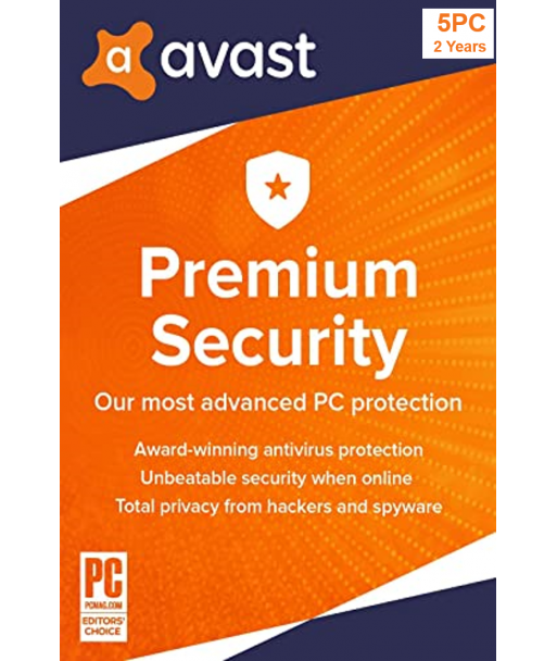 Avast Premium Security 2021 - 5PCs | 2 Years