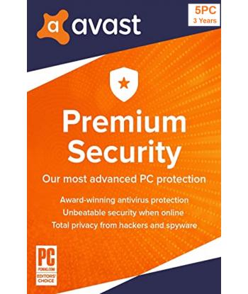 Avast Premium Security 2021 - 5PCs | 3 Years