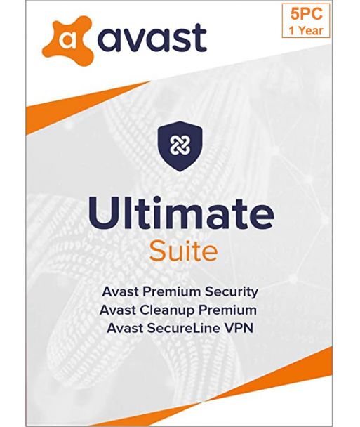 Avast Ultimate 2021 - 5PC | 1 Year