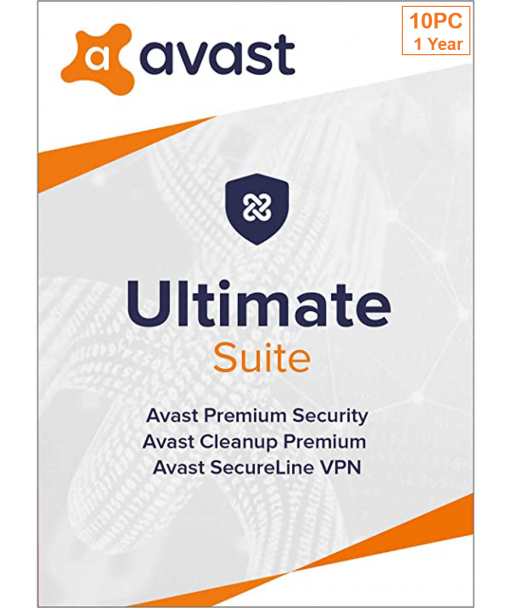 Avast Ultimate 2021 - 10PC | 1 Year